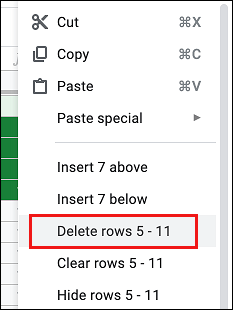 Delete Blank Rows in Google Sheets