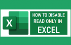 Disable Read Only in Excel