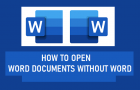 Open Word Documents Without Word