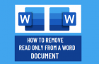 Remove Read Only From a Word Document