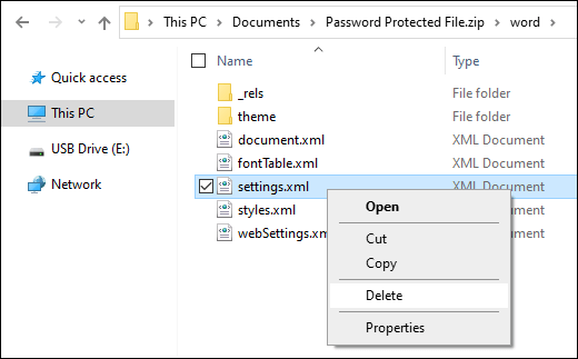 Remove Settings File to Remove Editing Restrictions