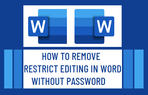Remove Editing Restrictions in Word Without Password