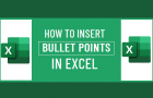 Insert Bullet Points in Excel